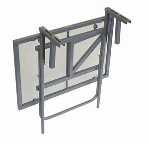 Tisch Für Balkongeländer : balkonh ngetisch balkontisch balkonklapptisch 60x40cm metall glas silber ebay ~ Whattoseeinmadrid.com Haus und Dekorationen