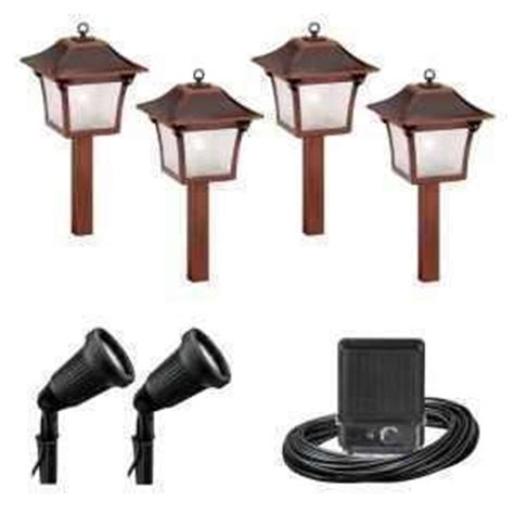 malibu 6 pc low voltage colonial landscape light set kit