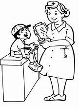 Coloring Doctor Doctors Preschool Visit Comments sketch template