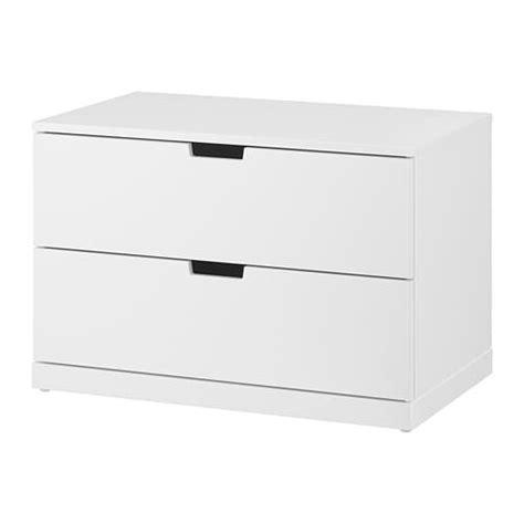 Lade Per Comodino Design by Nordli Cassettiera Con 2 Cassetti Bianco Ikea