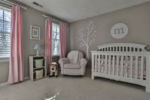 pink and gray nursery i like the light gray walls with