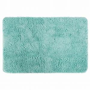 tapis microfibre salle de bain 60x90cm vert d39eau With tapis vert d eau
