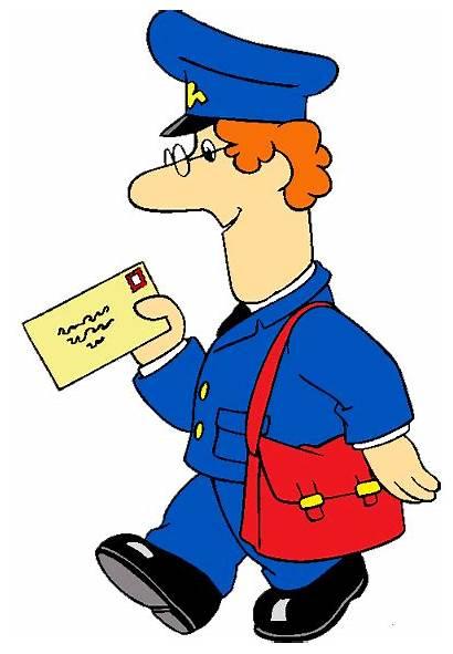 Postman Cartoon Pat Clipart Clip Non Kid