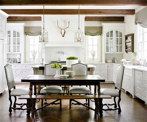 what color kitchen table with white cabinets refined rustic 9837