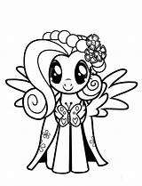 Coloring Fluttershy Pony Pages sketch template