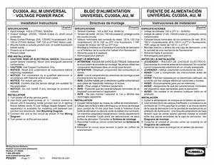 Hubbell Cu300a Wiring Diagram