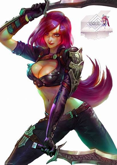 Legends Katarina League Render Fan Fantasy Deviantart