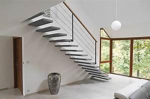 escalier des idees pour un interieur design deco en ligne With escalier beton interieur design