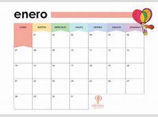 Planificador Mensual 2019 imprimible a color • Tienda