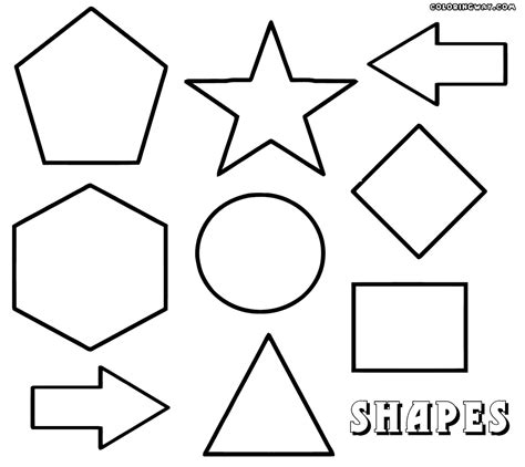 Coloring Shapes by Geometric Shapes Coloring Pages Coloring Pages To