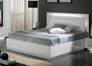 Chambre à Coucher Adulte : lit city laque blanc chambre coucher ~ Teatrodelosmanantiales.com Idées de Décoration