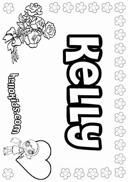 Kelly Coloring Pages Hellokids Names Letter