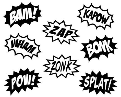 zap clipart black and white comic splashes vinyl wall decal