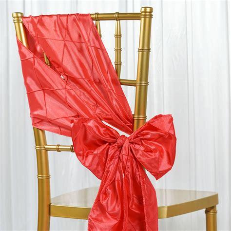 30 pintuck taffeta chair sashes ties bows wedding party