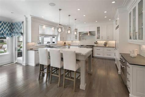gray kitchen island   shaped breakfast bar