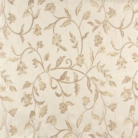 Drapery Fabric By The Yard by A0011d Ivory Embroidered Floral Brocade Upholstery Drapery