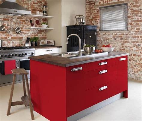 disenos de cocinas rojas  blogdecoracionescom