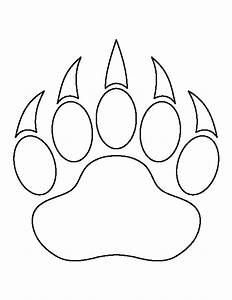 bear paw print pattern use the printable outline for With bear footprints template