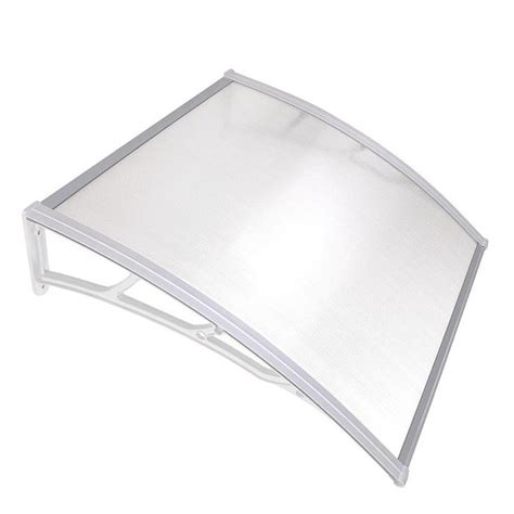 yescom door window awning canopy clear polycarbonate  white yescomusa