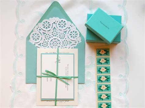 diy invitations diy quot blue box quot inspired rubber st wedding invitations
