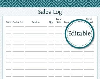 sales log templates word excel formats