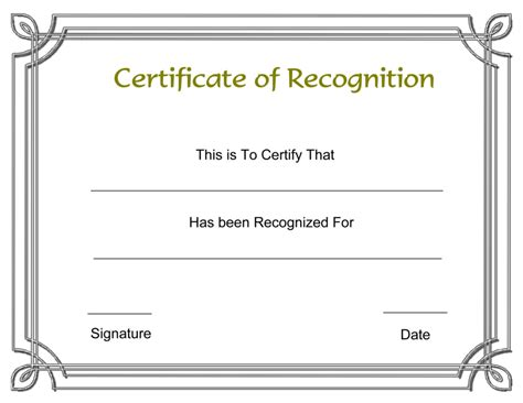 Certificate Of Recognition 6 Free Templates In Pdf Word Printable Certificate Of Recognition Templates