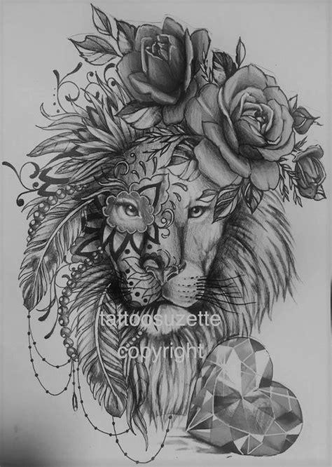 sweet tattoo | Lion tattoo design, Lion tattoo on thigh