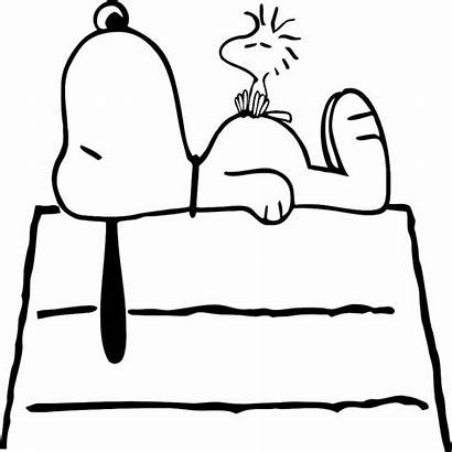 Snoopy Dog Coloring Pages Woodstock Sketch Charlie