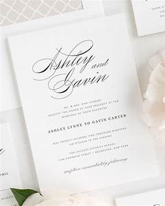 Timeless Script Wedding Invitations Wedding Invitations