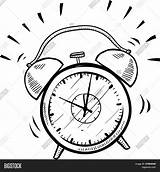 Alarm Clock Coloring Pages Clipart Sketch Cuckoo Setting Retro Drawing Clip Vector Drawings Illustration Fotosearch Doodle Print Suitable Advertising Format sketch template