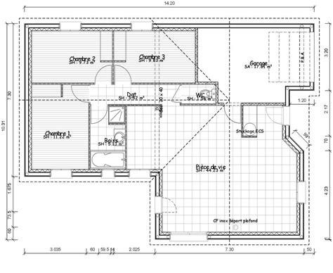 plan maison plain pied 2 chambres gratuit plan de maison rectangle gratuit plans maisons