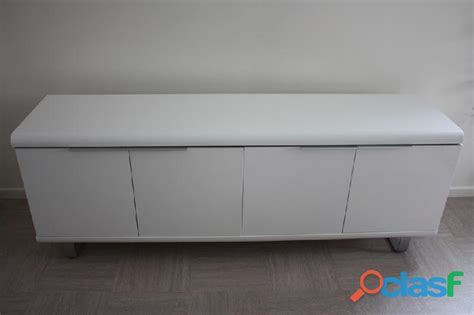 meuble de bureau fly buffet bas laque blanc fly