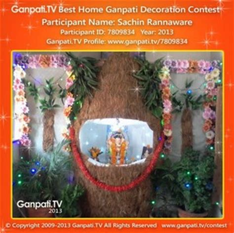 eco friendly ganpati decoration ideas  home ganpatitv
