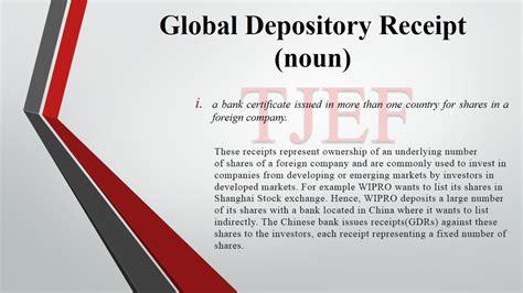 fincabulary 4 global depository receipt finance tapmi