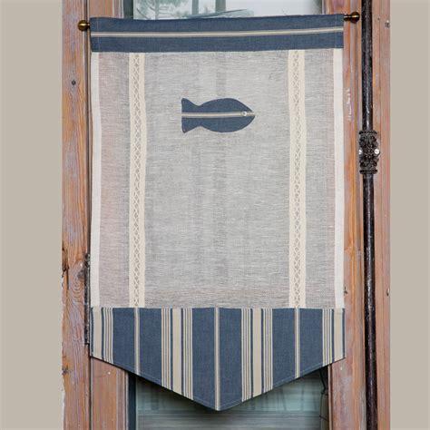 rideaux fenetre cuisine nouveautes brise bise mer poisson bleu