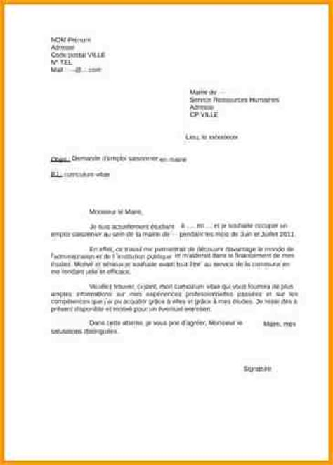 10 lettre motivation mairie lettre administrative