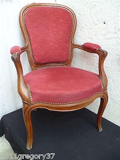 fauteuil voltaire ancien tissu clasf