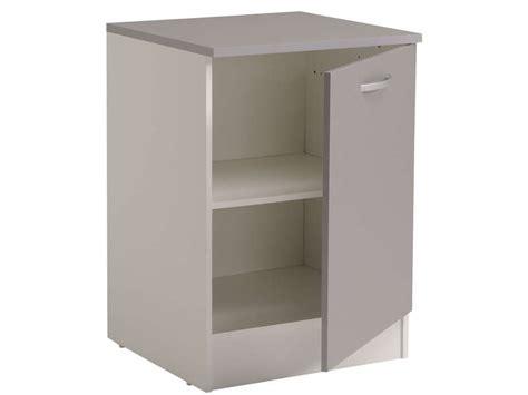 meuble cuisine 60 cm meuble bas 60 cm 1 porte spoon color coloris gris vente