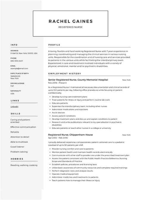 Registered Resume Template by Registered Resume Sle Writing Guide 12