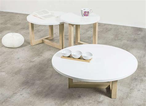 canape lit gigogne table basse scandinave ronde achatdesign