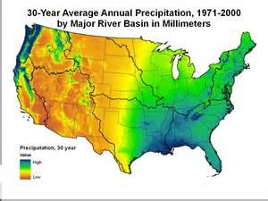 United States: 30-Year Average Annual Precipitation, 1971-2000 - Data