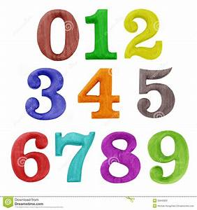Color Wooden Numbers Stock Illustration Illustration Of