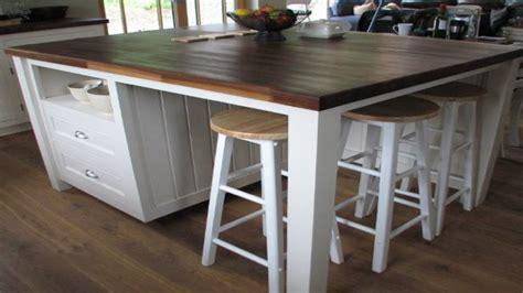 pretty standing kitchen island  seating ideas