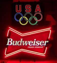 Budweiser Olympics Neon Sign