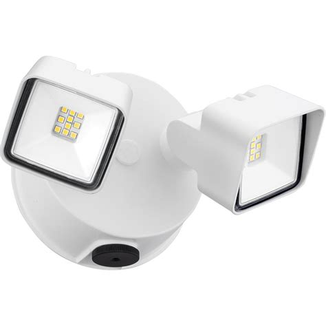dusk to dawn led flood light lithonia lighting white adjustable twin head integrated