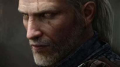 Geralt Rivia Witcher Eyes 4k Glowing Triss