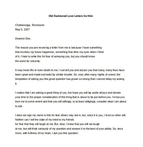 love letters     word  documents