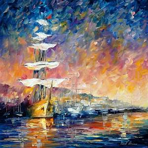 Sunset Paintings by Famous Artists | SAILBOATS IN SUNRISE ...