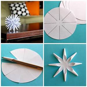 Deco Noel En Papier : boule de no l faire soi meme 9 suggestions de bricolage ~ Melissatoandfro.com Idées de Décoration