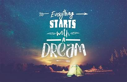 Dream Starts Inspirational Quote Mural Quotes Wallpapers